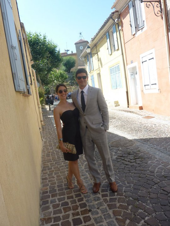 Arle & I at a wedding in the south of france