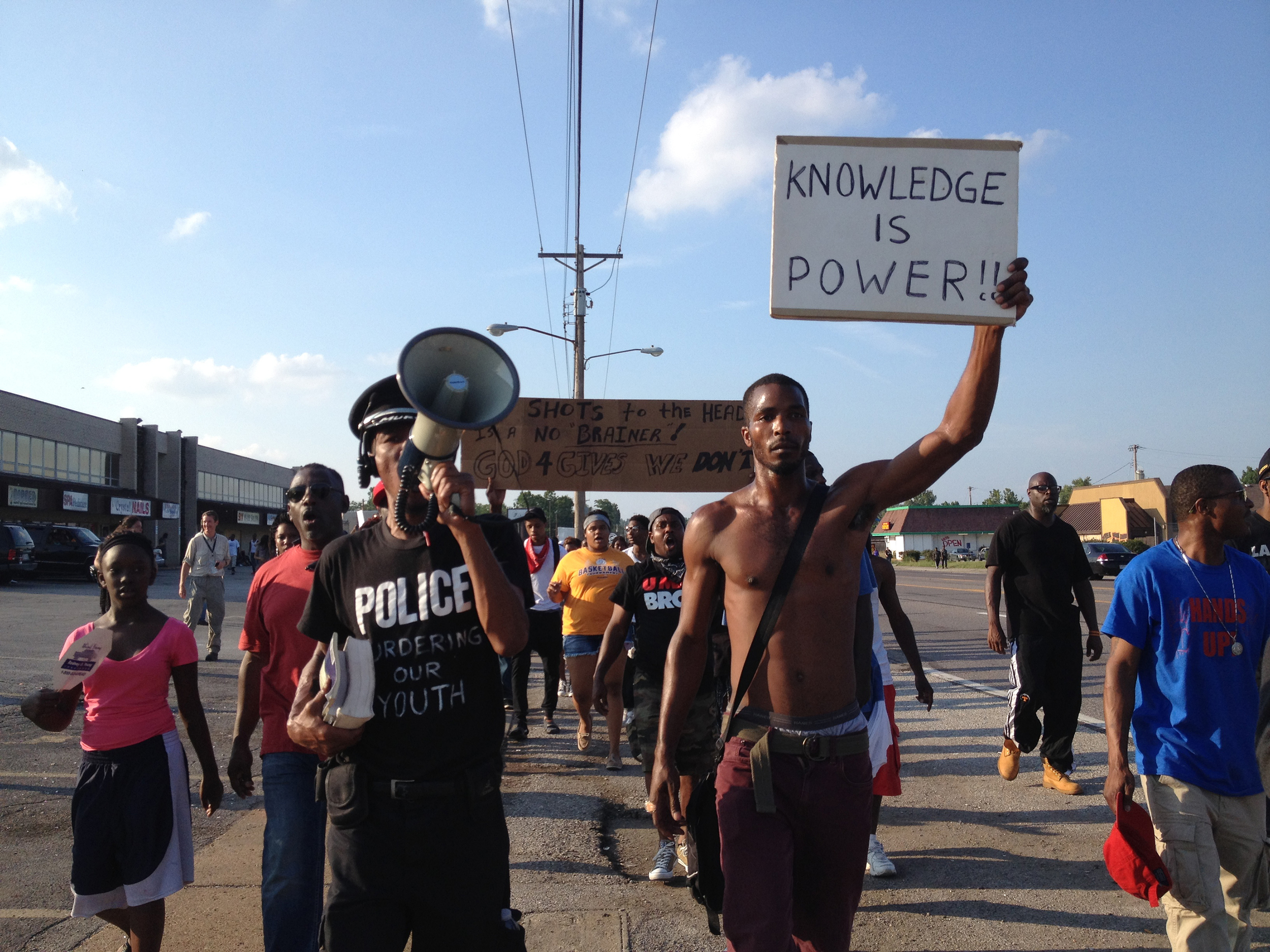 August, 2014. Ferguson,  MO. On assignment for International Business Times.