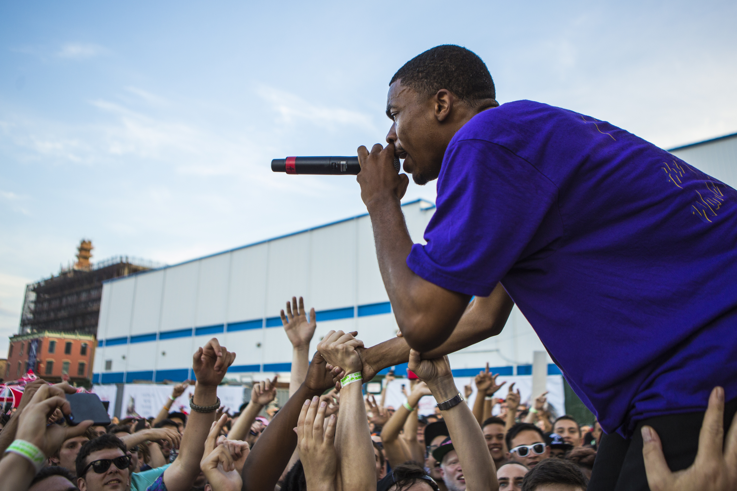 Vince Staples performs during Brooklyn's Northside Festival at 50 Kent Avenue on June 14, 2015 in Brooklyn, New York. Shot for the  Village Voice / Getty Images .