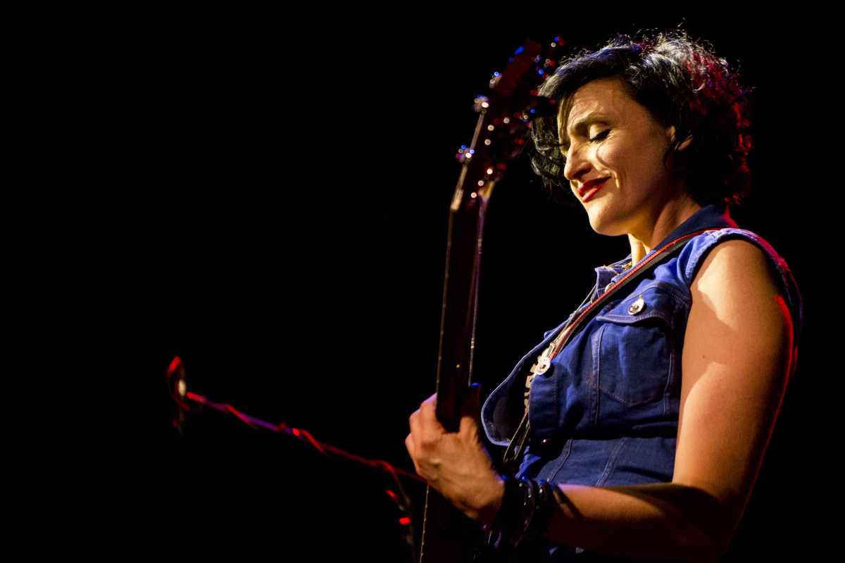 Betsy Wright of Ex Hex plays at the Music Hall of Williamsburg on June 12, 2015. Shot for the  Village Voice.