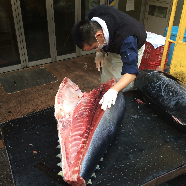 Fishmonger at Tsukiji Market