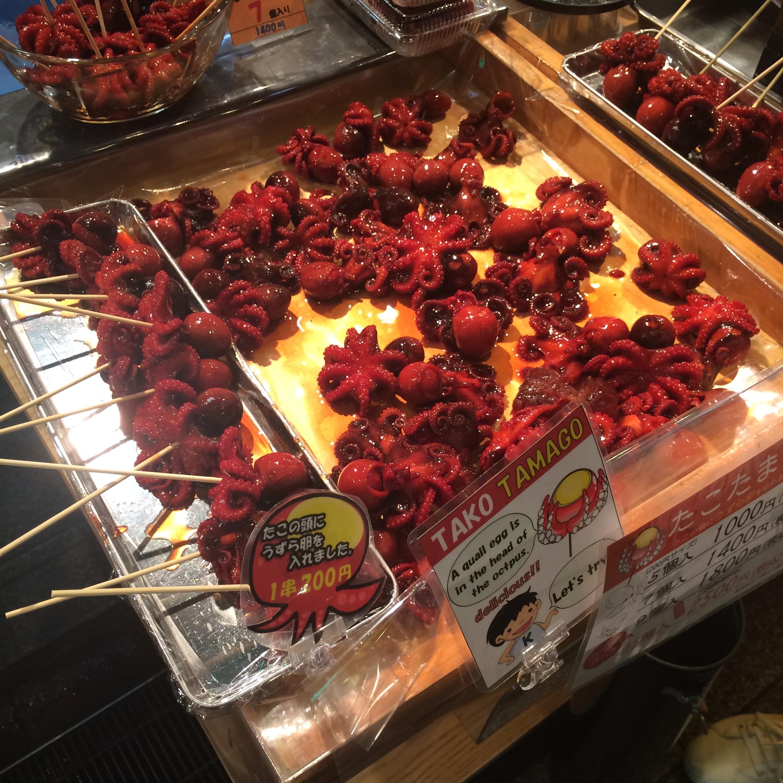 Octopus skewers - Nishiki Market