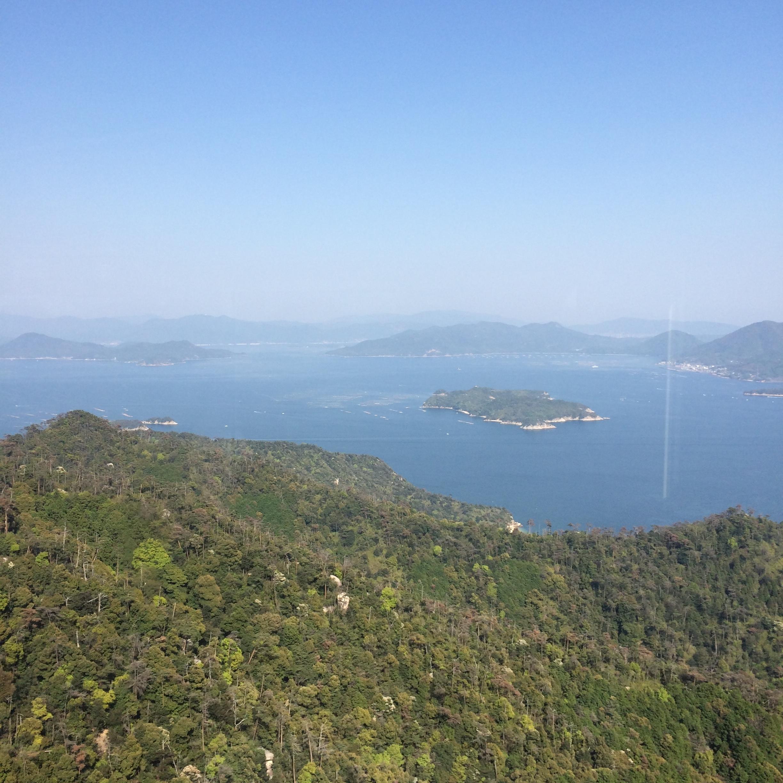 Aerial view from Miyajima Tram