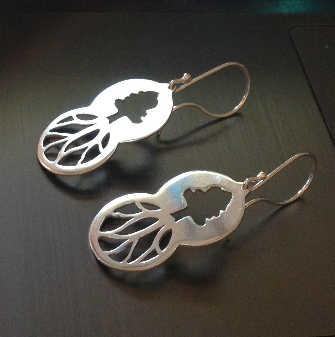 Two Circles Tree Earrings