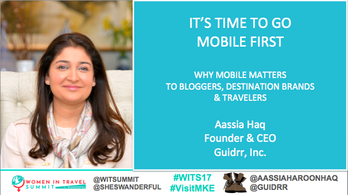 #WITS17 Keynote - A keynote at the Women in Travel Summit in @VisitMKE about why tourism boards and brands should go mobile-first with their content marketing