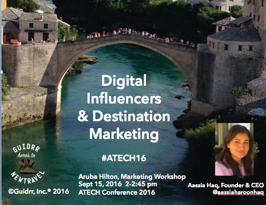 #ATECH16 Workshop - A hands-on workshop for attendees at #ATECH16 in Aruba about how to leverage influencers for a destination marketing program