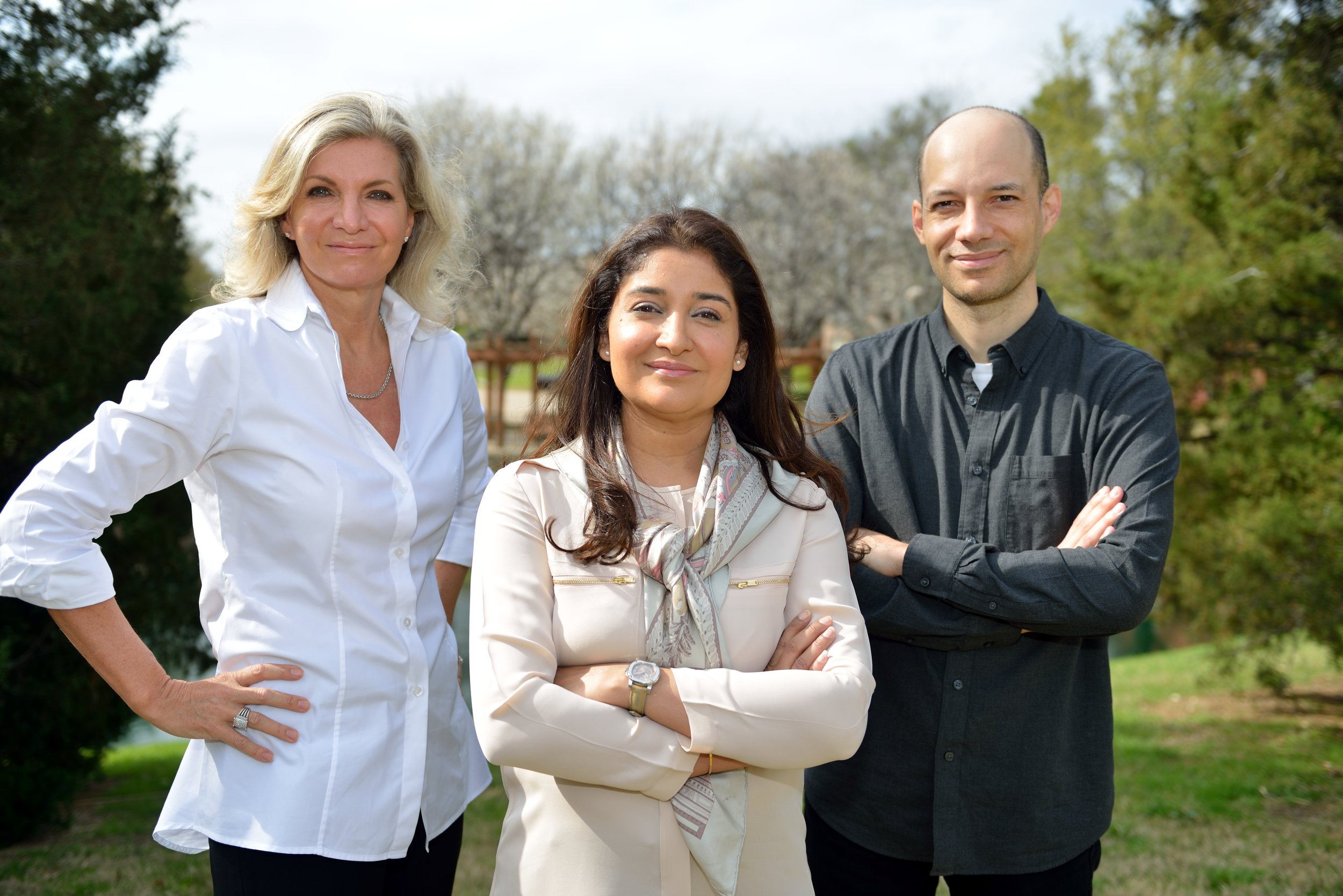 Advisory Team - Pictured from Left to Right(Advisor) Sally Kennedy, Former CEO Publicis Dallas; Principal & CEO, The K Factor, LLC. (Founder) Aassia Haq.(Advisor) Cristiano Oliveira, Founder & CEO of Olivia AI; Former Co-Founder & CTO Spring Wireless(Advisor) (Not Pictured). Bruce MacMillan, Former CEO, Meeting Professionals International; CEO Bandwidth Management and Consulting.