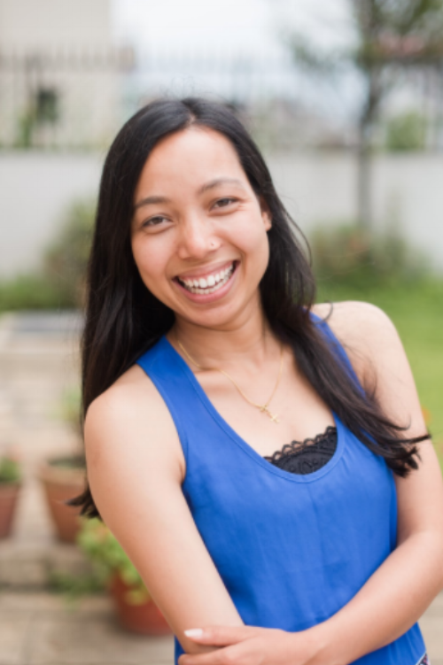Esther, a site director at KHG, Elegantee's Garment Factory in Nepal