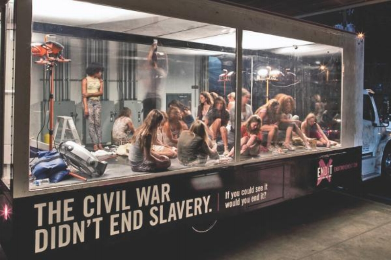 """""""TRAFFICKING IN TRAFFIC"""" Outdoor Advert by SapientNitro Atlanta for the  End It Movement"""