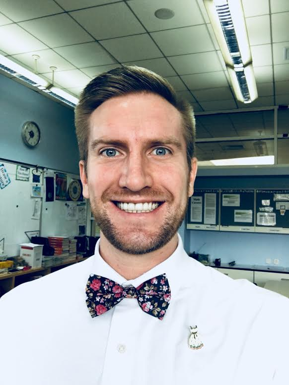 Challenged by his classroom topics and inspired by his wife's advocacy, Ryan is wearing ties & bow-ties as a part of Dressember this year.