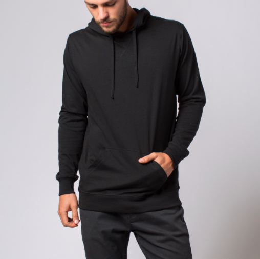Featured above is the Hudson hoodie from Krochet Kids.