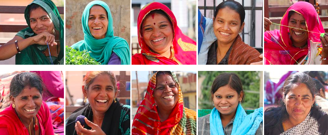"""""""Anchal artisans are smart, talented women who are empowered through design training, health benefits, education workshops and financial security. The artisans design beautiful, one-of-a-kind pieces and support themselves and their families through safe and dignified employment."""""""