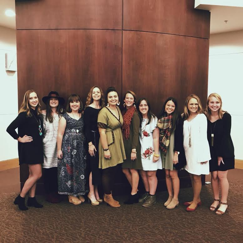 Beth and members of her team at the Night of the Dress Fashion Show