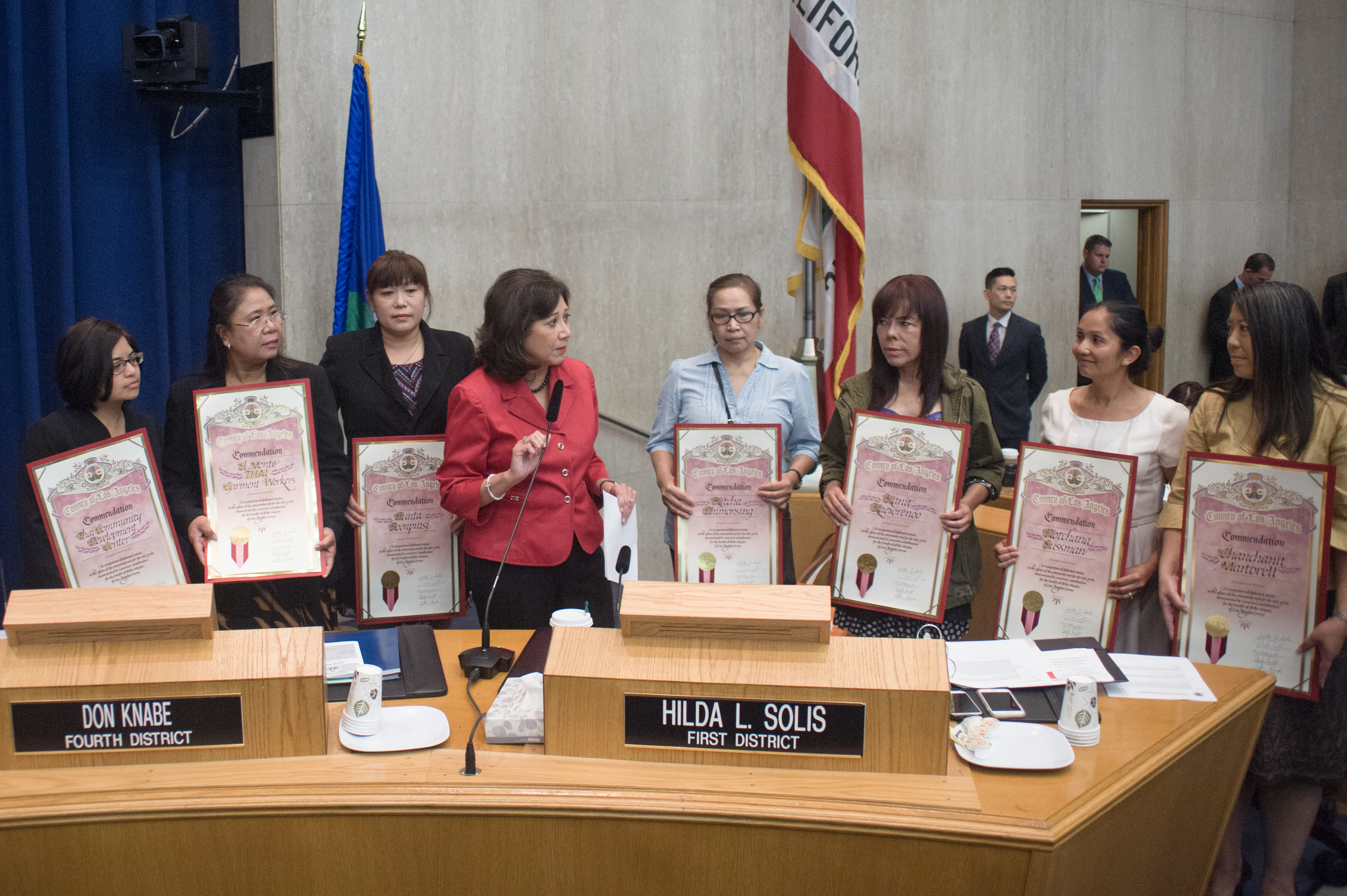 Survivors of the El Monte sweatshop honored on the 20th anniversary of their rescue.