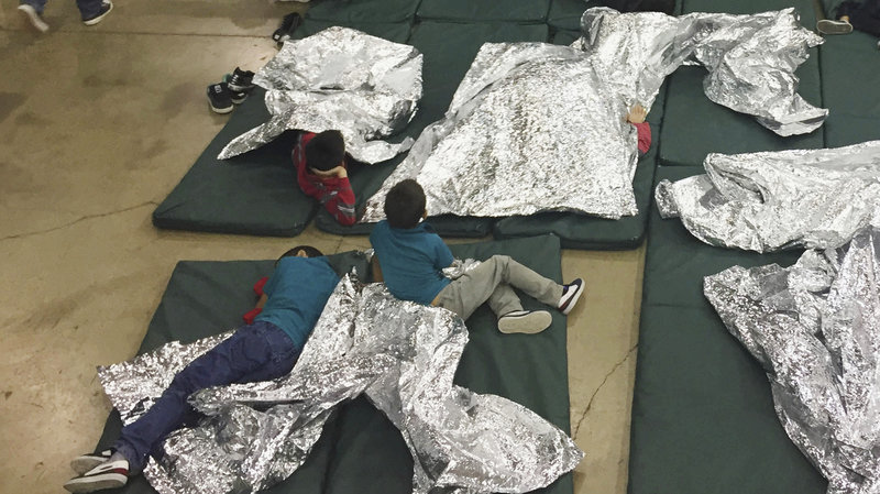 'A photo provided by U.S. Customs and Border Protection shows the interior of a CBP facility in McAllen, Texas, on Sunday. Immigration officials have separated thousands of families who crossed the border illegally.' //  NPR