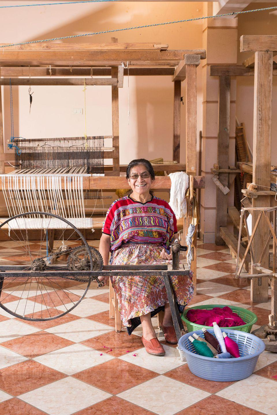 """""""Meet one of our Artisan Partners in Guatemala, Lidia. She grew up in a family where girls weren't valued as much as boys. As a result, she wasn't offered the same opportunities for an education as they were. However, she did learn to weave at a young age which has made all the difference for her and her son."""""""