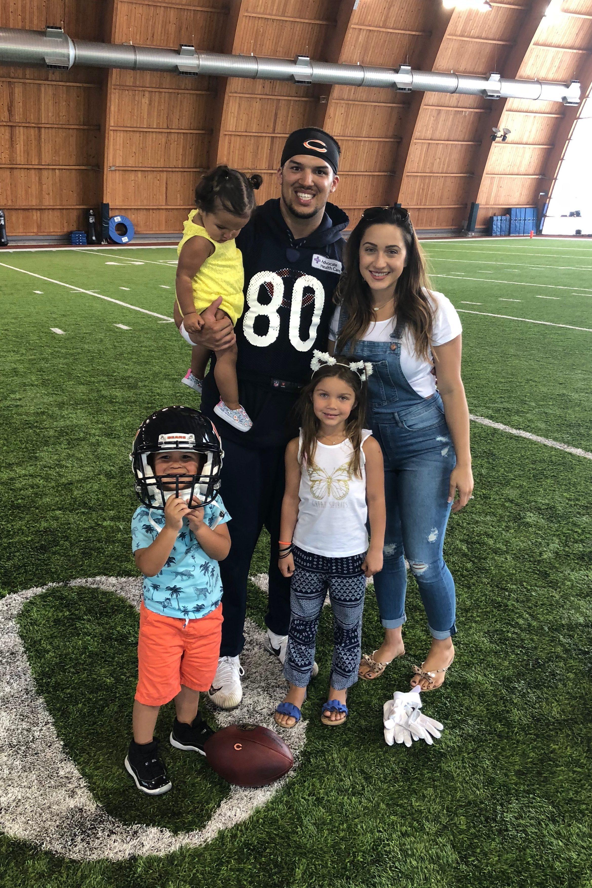 Trey Burton and his family.