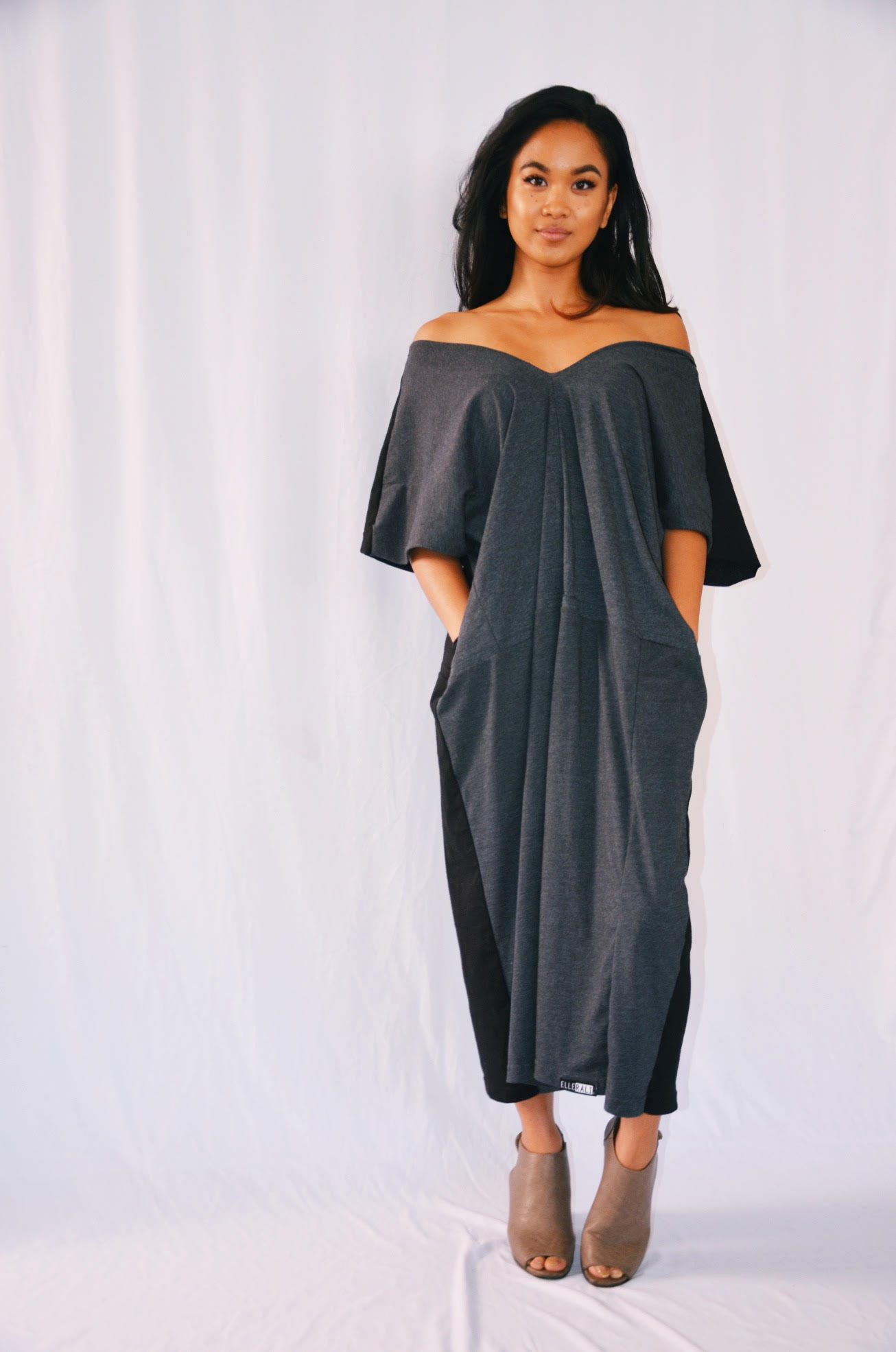 """Photo of ELLERALI's """"Everyday Dress,"""" created from recycle t-shirts."""