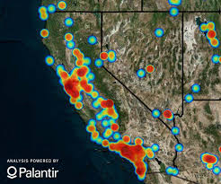 The image above is a heat map that reflects the cases reported to the National Human Trafficking Hotline in 2016. Areas in which greater numbers of cases were reported contain more red shading. Areas in southwest, northwest, central, and northeast California contain red shading. This map only reflects cases in which the location of the potential trafficking was known. Some cases may involve more than one location.