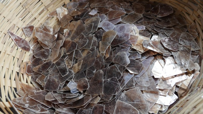 Mica's glistening properties hold great appeal in the fashion-conscious West.   Credit: ITV News/Sean Swan
