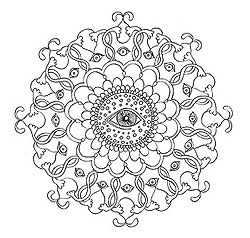 Sample Mandala Coloring Page