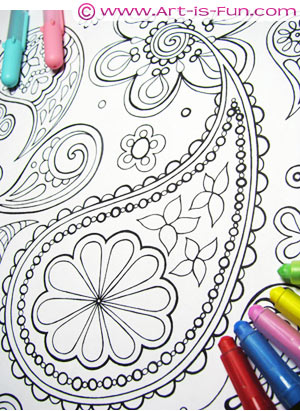 Abstract Coloring Book by Thaneeya McArdle