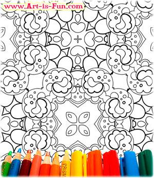 抽象图案着色页打印betway必威官网app