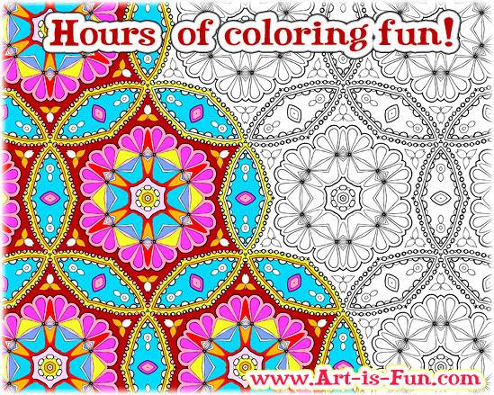 抽象图案的印刷和色彩