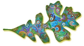 Thaneeya的彩色艺术叶子