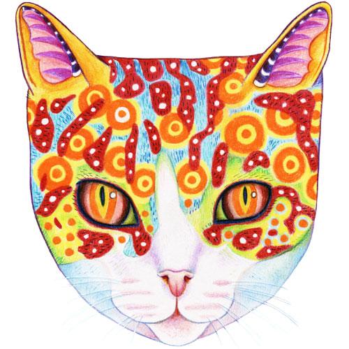 Thaneeya McArdle设计的可爱多彩宇宙猫新利18在线娱乐