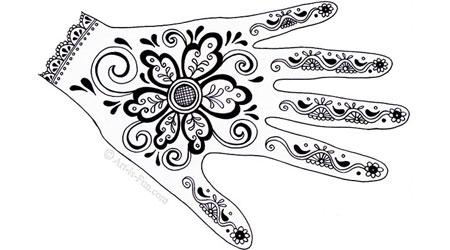 如何创建指甲花手设计