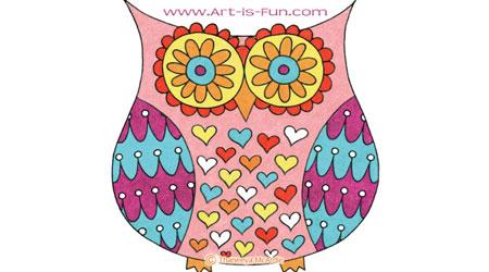 如何画一只可爱的猫头鹰
