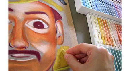 如何使用彩色粉笔