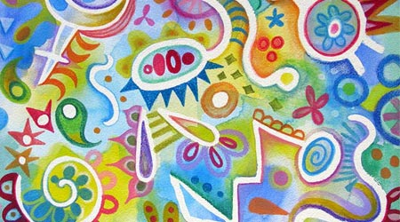 Thaneeya的水彩抽象艺术