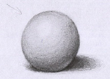 如何画一个阴影球
