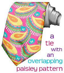 Thaneeya设计的彩色佩斯利领带