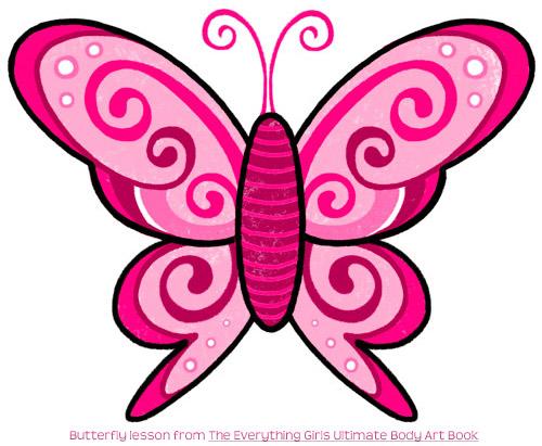 蝴蝶涂鸦纹身