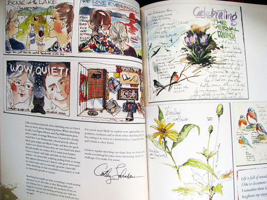 Sketchbook pages by Cathy Johnson