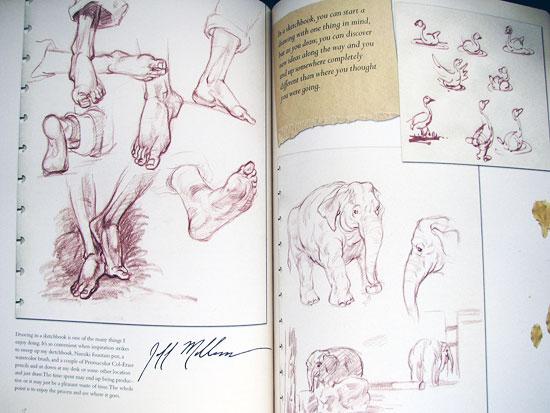 Sketchbook pages by Jeff Mellem