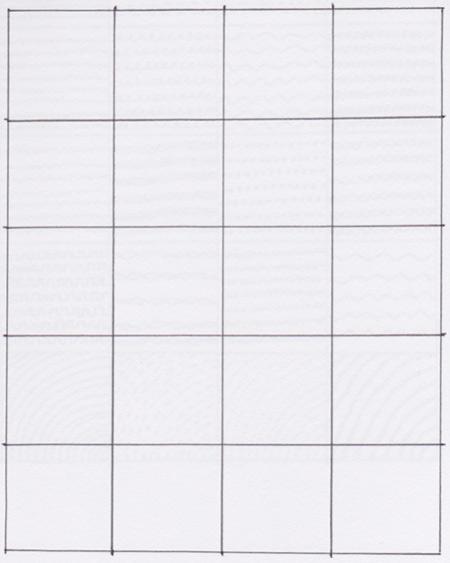 我们的速写书分配的空白网格