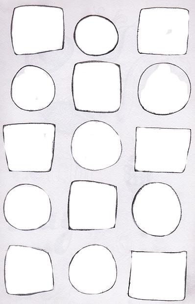 为我们的素描本作业准备正方形和圆形