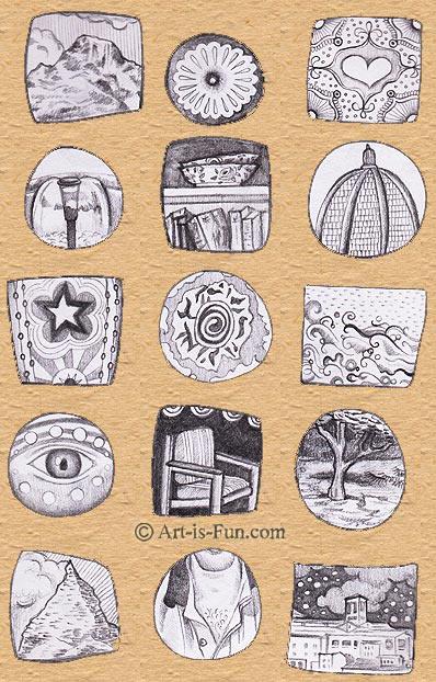用手工纸张的视觉日记