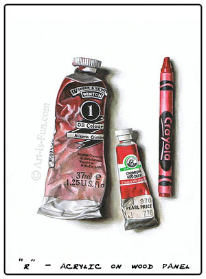 Artist Supplies Photorealism Painting by Thaneeya