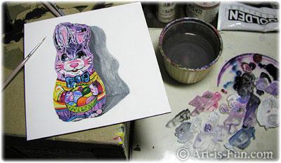 Artist Palette in Use