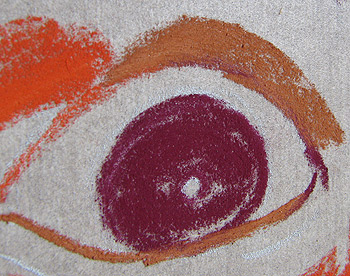 Pastel Drawing Close-Up