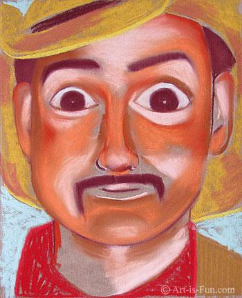 柔和的肖像绘画