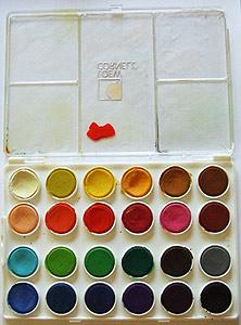 水彩绘画调色板