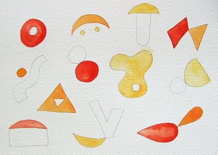抽象艺术绘画与thaneeya