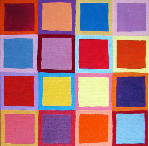 Abstract Painting Squares