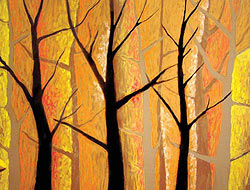 Pastel Tree Painting